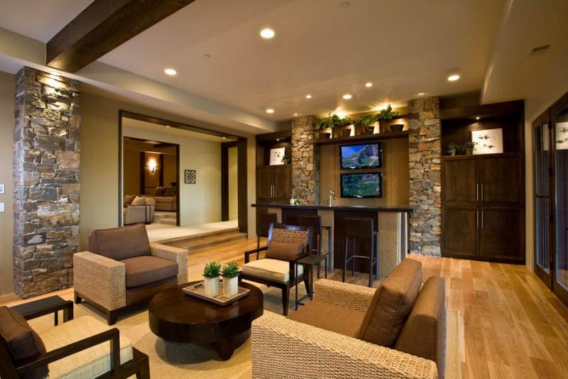 Как отделать гостиную в частном доме