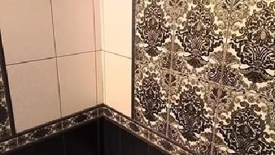 Дизайн ванной с плиткой