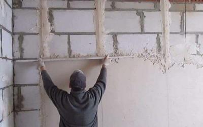 Штукатурка стена