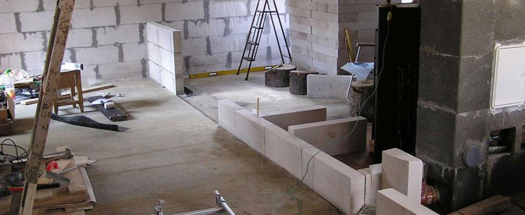 Notranje stene betonskega betona