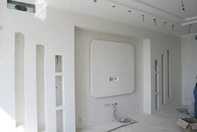 Многоуровневая обшивка гипсокартоном стен
