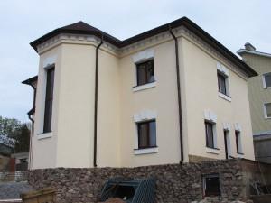 Отделка Короедом двухэтажного дома