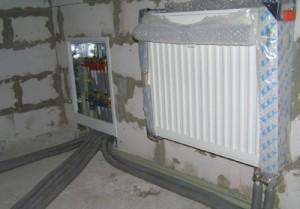 Монтаж радиаторов отопления в доме из газобетона