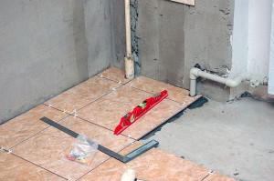 Укладки напольной плитки по прямой