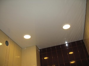 Натяжной потолок в санузле