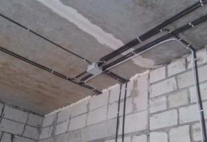 Электромонтажные работы в доме из газобетона