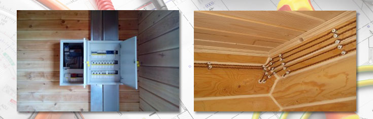 Монтаж электрики в деревянном доме