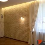 Отделка стен декоративным кирпичем